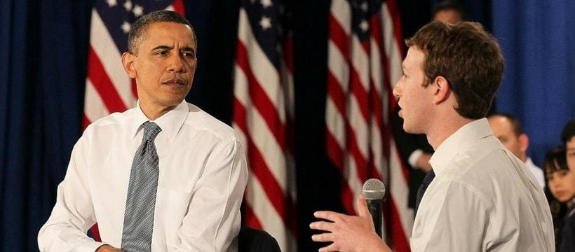 Barack Obama et Mark Zuckerberg