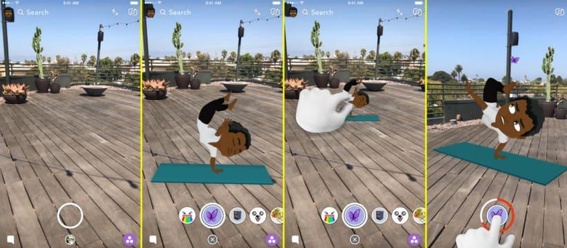 bitmoji 3D réalité augmentée