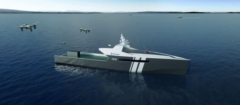 concept bateau autonome patrouille militaire roll royces