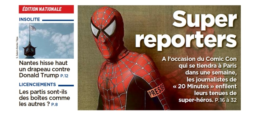 Une de 20 minutes avec spiderman