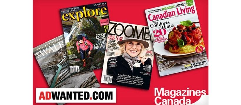 Unes ditribuees par magazines canada