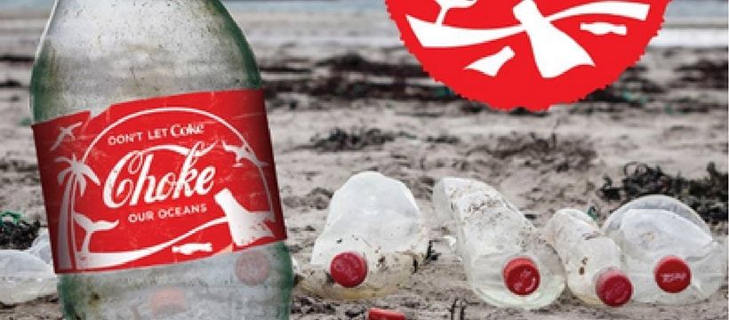 coca cola pollue les plages avec ses bouteilles plastique. Black Bedroom Furniture Sets. Home Design Ideas