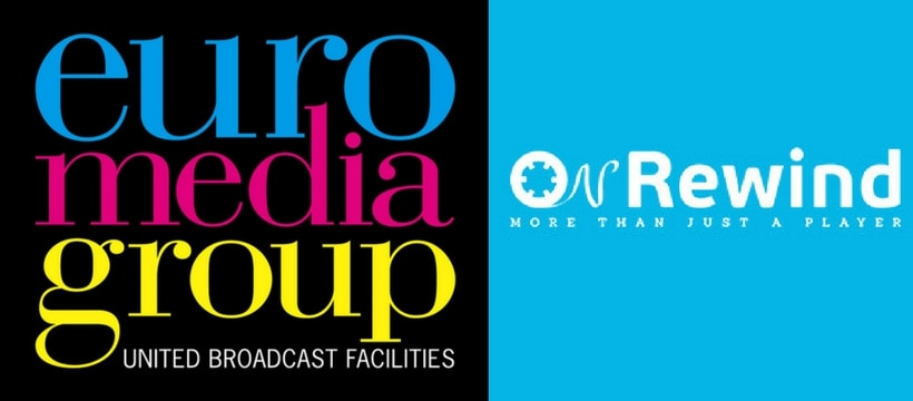logos d'EuroMediaGroup et dOnRewind