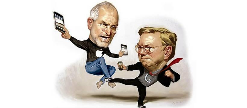 Les anciens CEO d'Apple et Google se battent