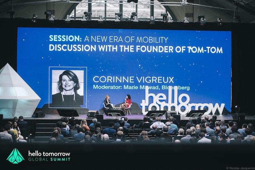 La scène du Hello Tomorrow Global Summit lors d'une conférence sur la mobilité