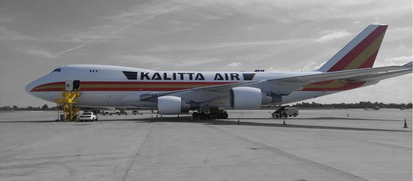 avion affrété par Tidal pour envoyer des vivres à Porto Rico