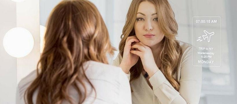 le miroir connecté mirrocool