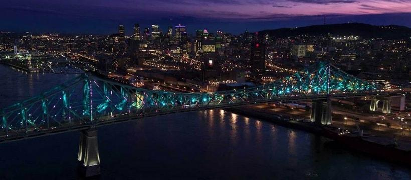 Pont Montreal de nuit