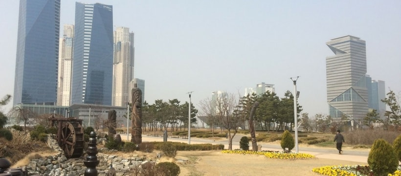 photo de la ville sud coreenne du songdo