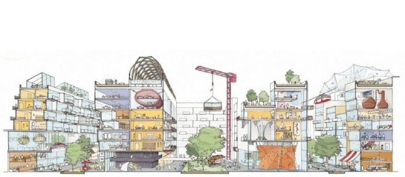 croquis du futur quartier quayside a toronto