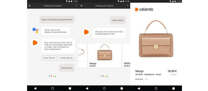 Zalando screenshot application