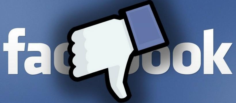 facebook pouce bas