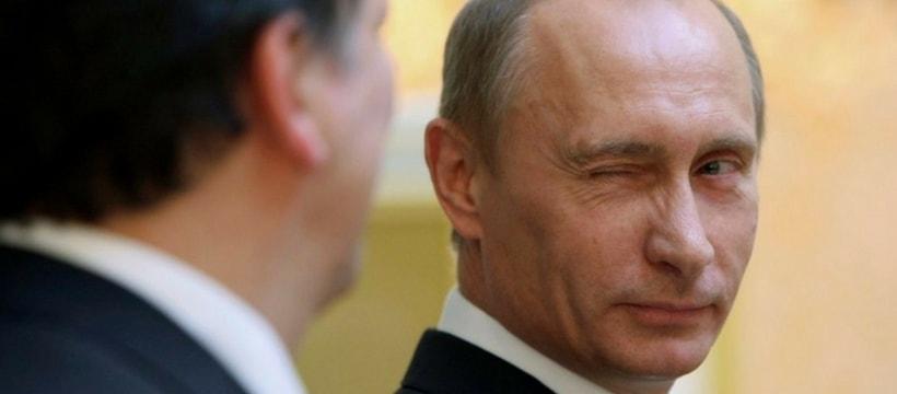 Vladimir Poutine cligne