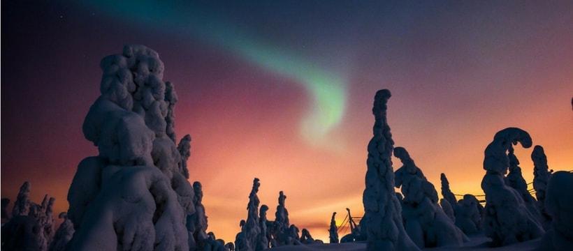 Des aurores boréales en Finlande