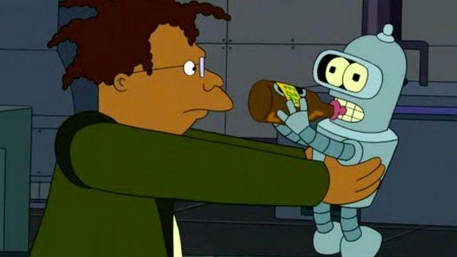 Bender, bébé, boit de la bière