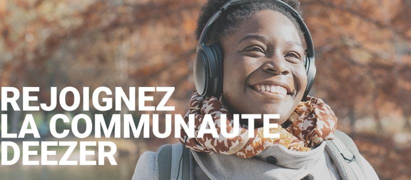 publicite pour le lancement de la deezer community