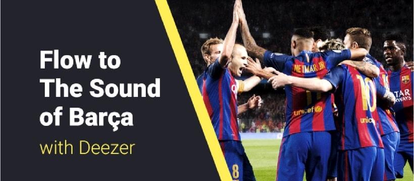 Deezer lance Barça Sound, l'univers musical du FC Barcelone