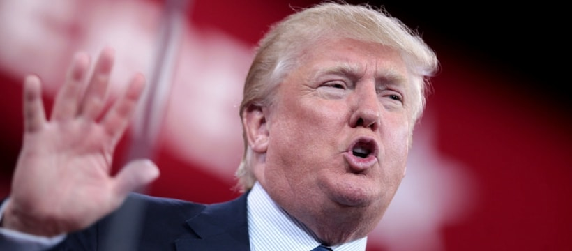 Donald trump en plein discours