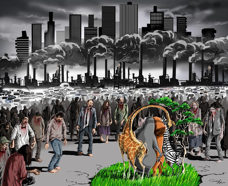 villes, pollution et environnement