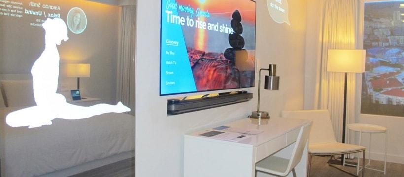 Un concept de chambre d'hôtel connectée par Marriott et Samsung