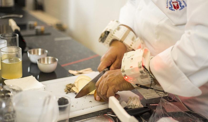 capture des mouvements dun chef cuisinier