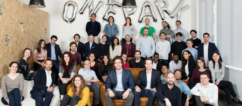 collaborateurs de la startup onepark