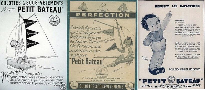 Illustrations de Marinette, première égérie de Petit Bateau
