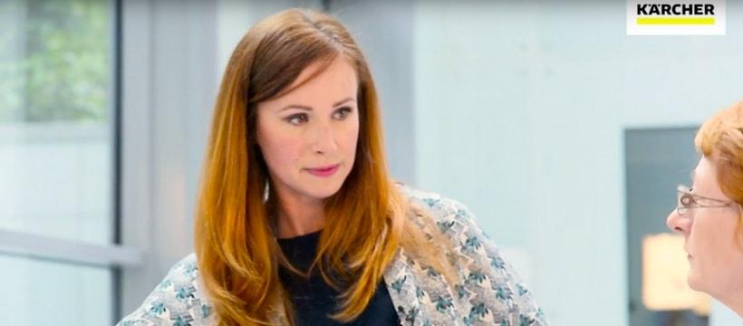 Sophie Ferjani dans la campagne de publicité de Karcher