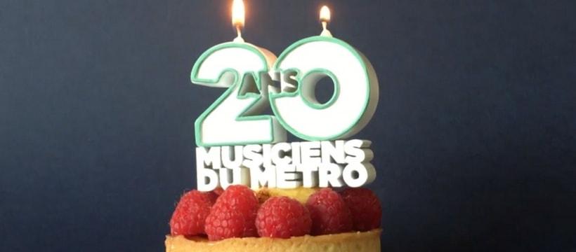 gateau de la ratp pour les 20 ans de son label musical