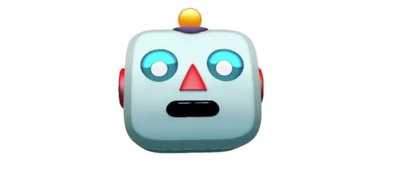 emoji de robot qui chante