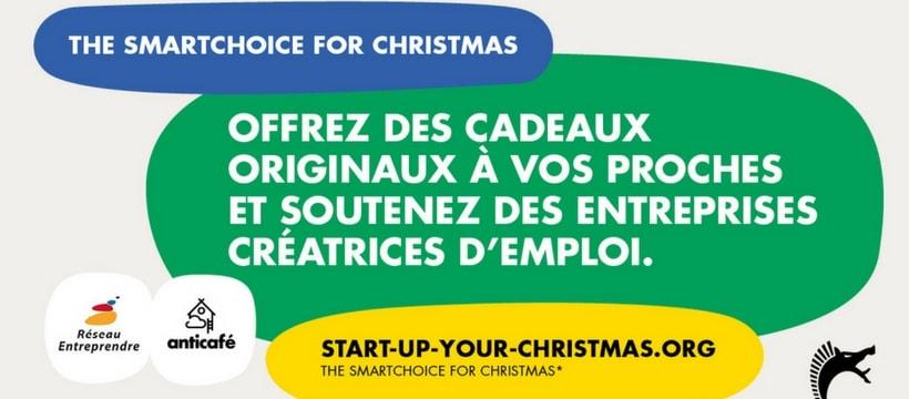 affiche de la pub startup for christmas