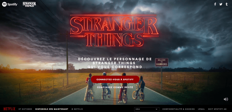 affiche stranger things pour spotify