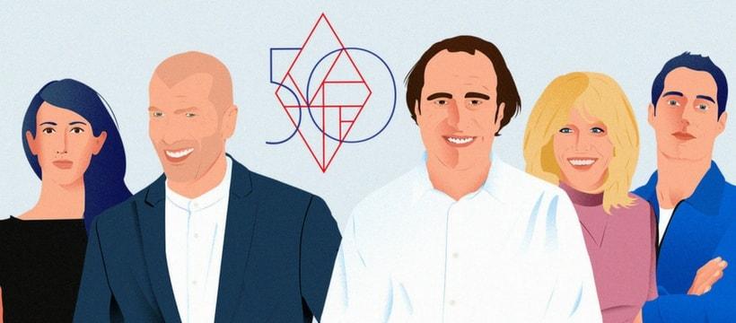 dessin des francais les plus influents selon vanity fair