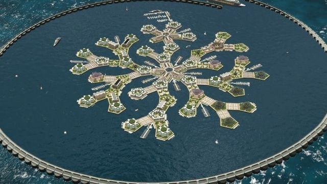 Un concept de ville flottante par Seasteading