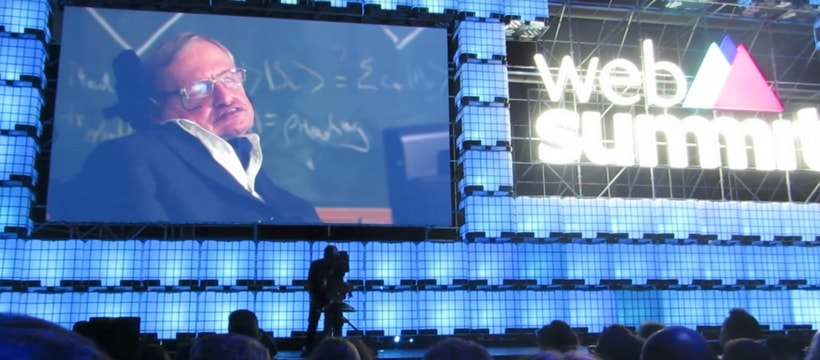 Conference de stephen hawking au web summit