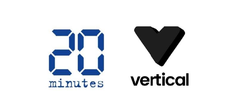 logos de 20 Minutes et vertical