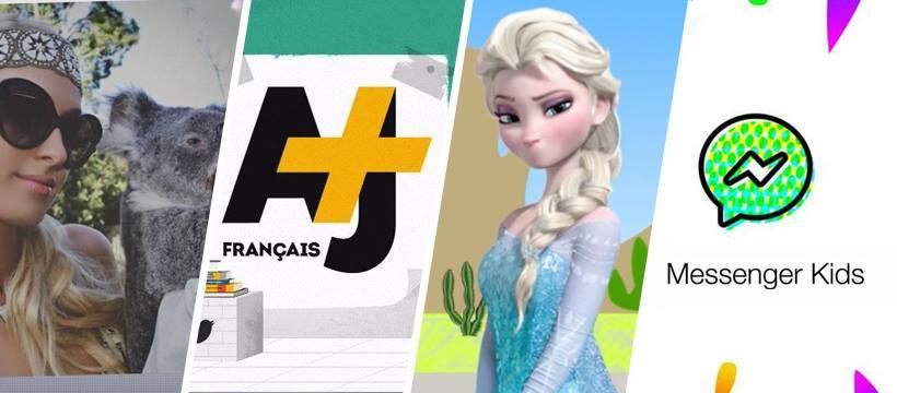Paris Hilton et un koala, AJ+ français, Elsa sans bouche, logo du messenger kids