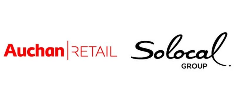 logos de auchan retail et de solocal