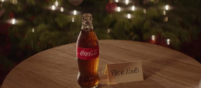 bouteille de coca cola pour le pere noel