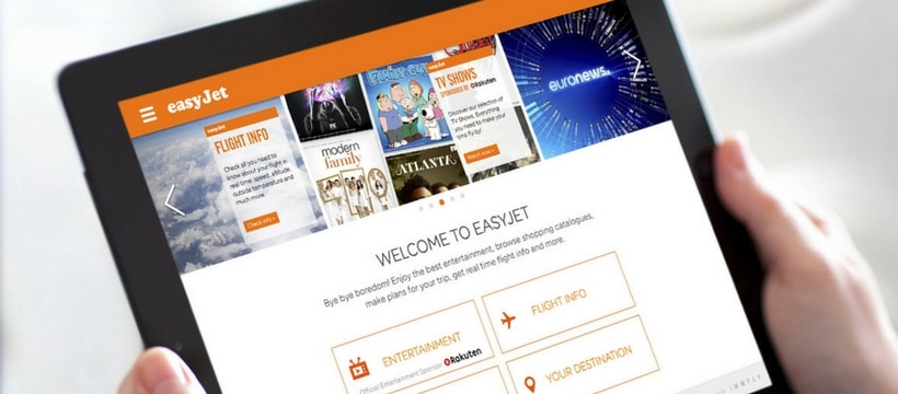 tablette sur lapplication easyjet