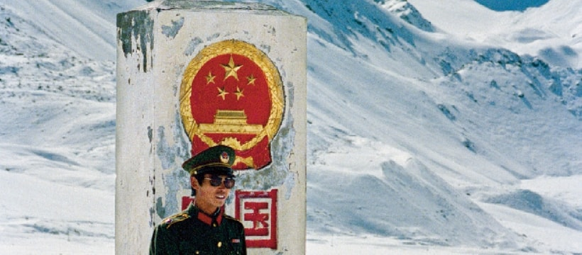 militaire chinois dans la montagne