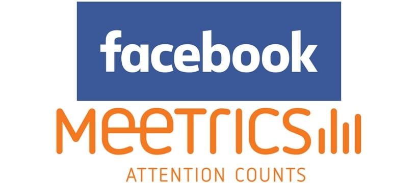 Logos de Facebook et de Meetrics