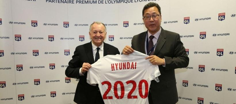 Jean Michel Aulas et le president de Hyundai