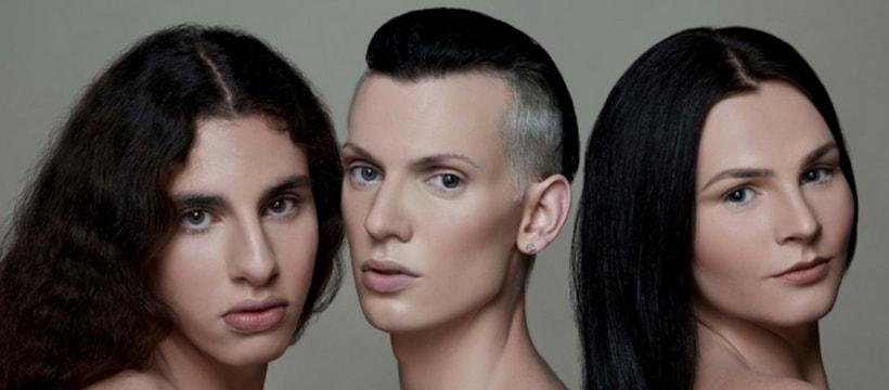transgenres mannequins pour une marque de produits de beaute