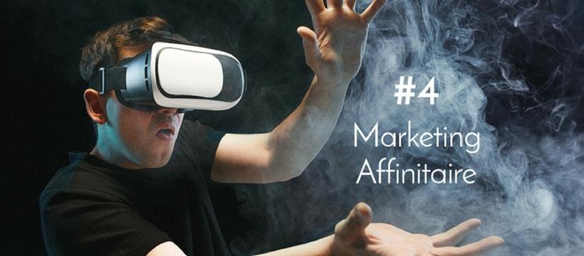 Homme avec un casque de realite virtuelle