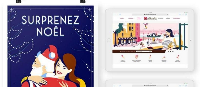 affiche de neuville en print et sur tablette