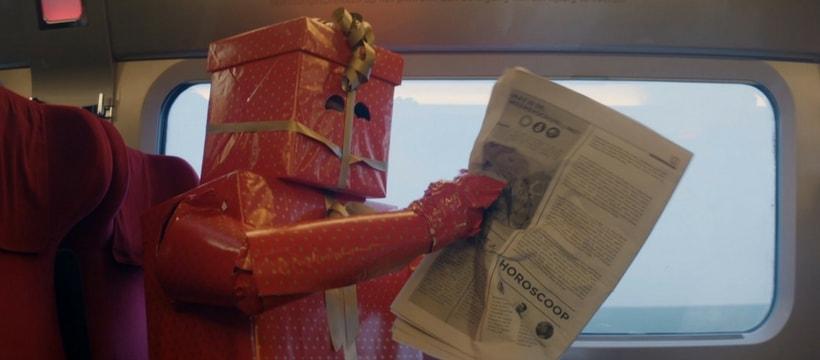 publicite du thalys, homme en cadeau de noel