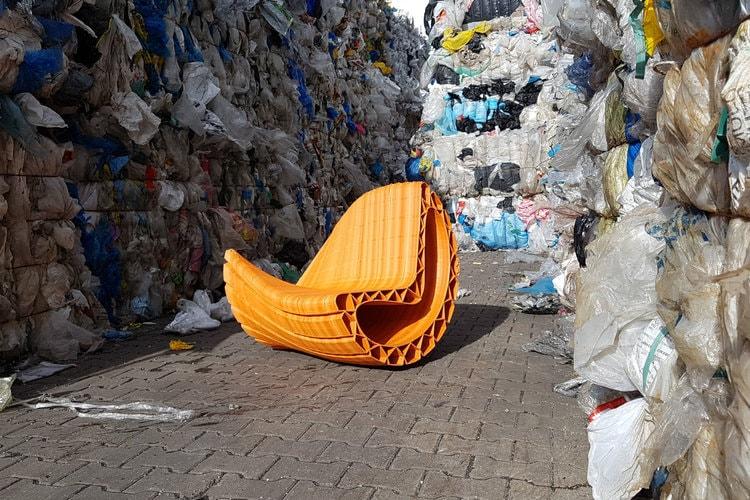 mobilier urbain en plastique recyclé