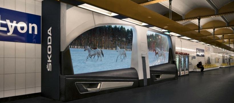 dispositif skoda dans le metro