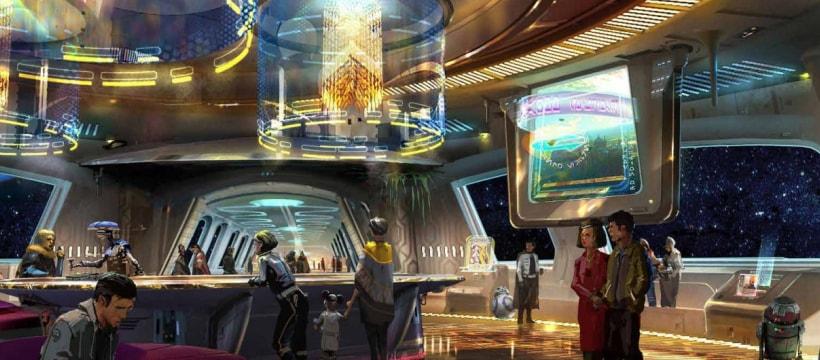 Une illustration du Star Wars resort de Disney